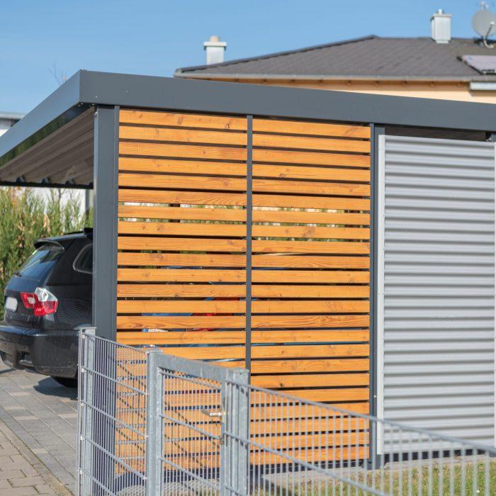 Moderner Aluminium-Carport